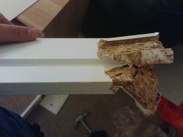 Broken plank